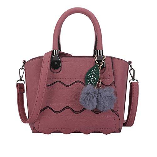 DISSA ES896 neuer Stil PU Leder Deman 2018 Mode Schultertaschen handtaschen Henkeltaschen,260×135×200(mm) Dunkelrot
