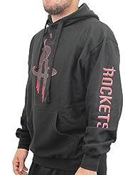 "Houston Rockets Majestic NBA ""Choice"" Men's Black Pullover Hooded SweatShirt Chemise"