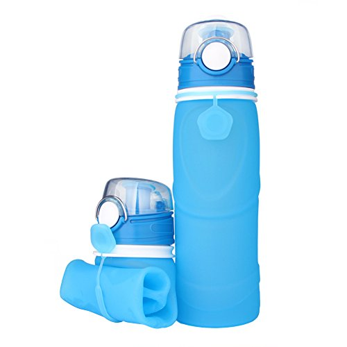 Botella de Agua Plegable de gel de Sílice sin BPA 750ml botella de ag