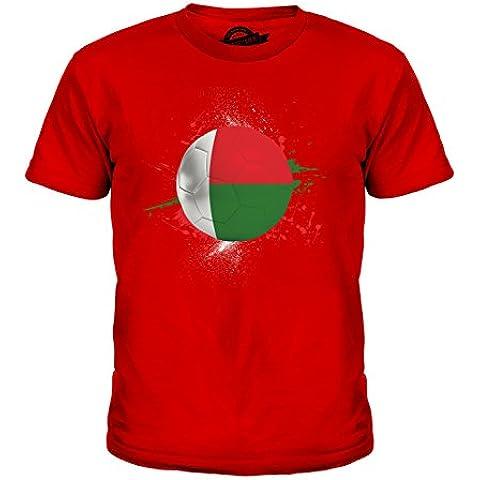 CandyMix Madagascar Calcio Unisex Bambino Ragazzi/Ragazze T-Shirt
