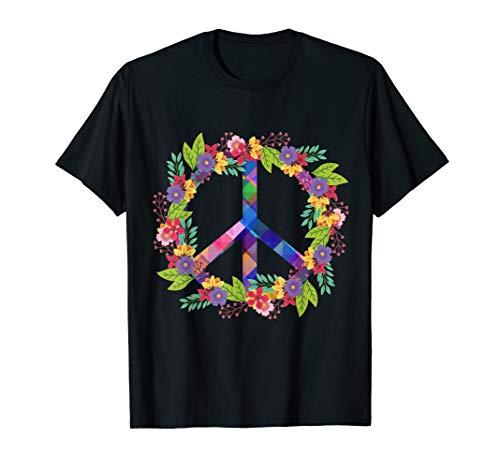 Peace Love Hippie Kostüm Tie Dye 60er 70er Jahre hippie T-Shirt (Cute Hippie Kostüm)