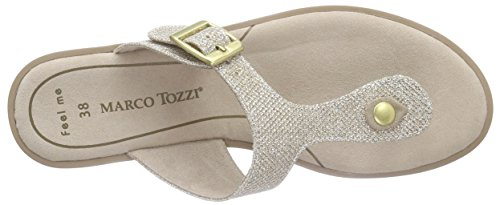 Marco Tozzi 27101, Tongs Femme Or (Gold Comb 938)