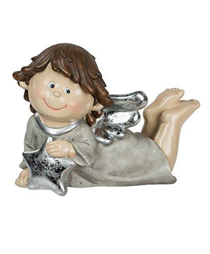 Engel mit Stern Dekoengel Schutzengel Engelfigur Skulptur Weihnachts Deko Figur