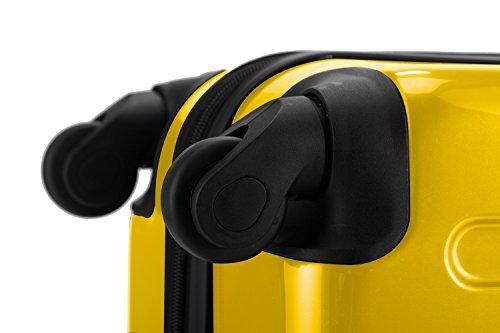 HAUPTSTADTKOFFER® 2er Hartschalen Kofferset · 2x Koffer 130 Liter (75 x 52 x 32 cm) · Hochglanz · Zahlenschloss · WEISS Gelb