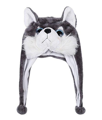 tze Hut Kopfbedeckung Kostüm Karneval Cap 3Hat Wolf (Wolf Kostüm Hut)