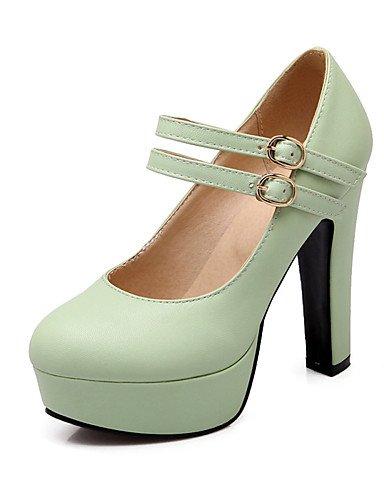 WSS 2016 Chaussures Femme-Bureau & Travail / Décontracté-Vert / Rose / Violet / Beige-Gros Talon-Talons / Bout Arrondi-Talons-Polyuréthane purple-us9 / eu40 / uk7 / cn41