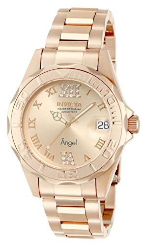 Invicta Angel Damen-Armbanduhr 38mm Armband Edelstahl + Gehäuse Batterie 14398