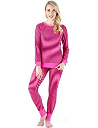 3bf47b8de4 Sleepyheads Ladies Lightweight Knit Jogging Style Striped Cuffed Pyjama Set  Loungewear
