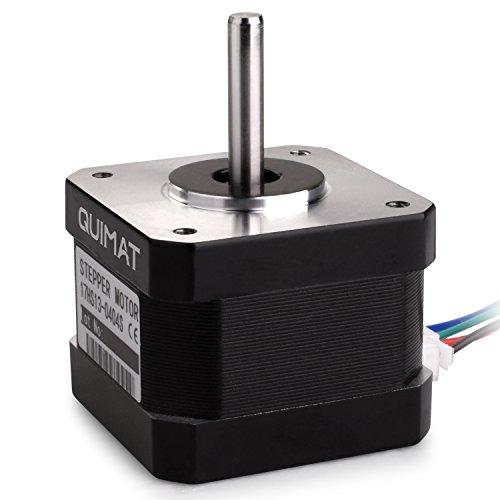 Quimat Nema 17 Schrittmotor Stepping Motor, 26Ncm (36.8oz.in) Haltemoment 12V / 0,4A für 3D Printer Drucker CNC (QD06)