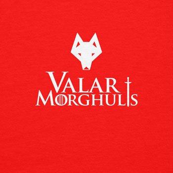 Texlab Got: Valar Morghulis - Herren Langarm T-Shirt Rot