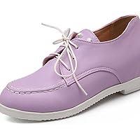 ZQ 2016 Zapatos de mujer - Tacón Cuña - Comfort / Puntiagudos - Oxfords - Boda / Exterior / Vestido - Semicuero - Negro / Rosa / Rojo / Beige , black-us9.5-10 / eu41 / uk7.5-8 / cn42 , black-us9.5-10