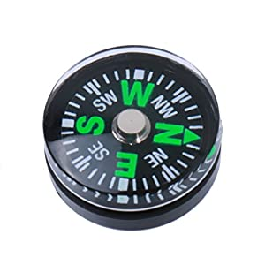41nFE2CyvnL. SS300  - MagiDeal 5X 15mm Pocket Survival Liquid Filled Button Compass for Camping Hiking