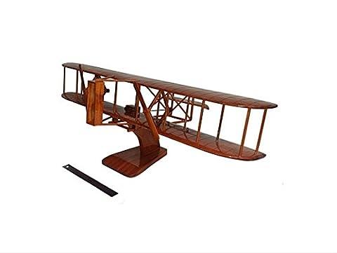 Wright Flyer Avion 2Pied–Modèle Executive Bureau en Bois (Acajou)