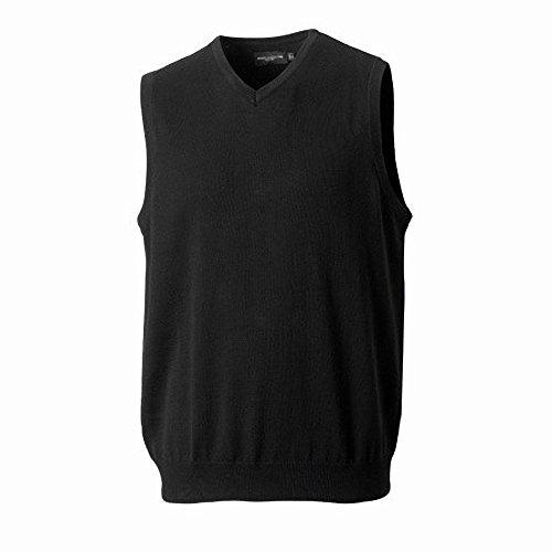 Russell Collection - Pullover sans manches à col en V - Homme Noir