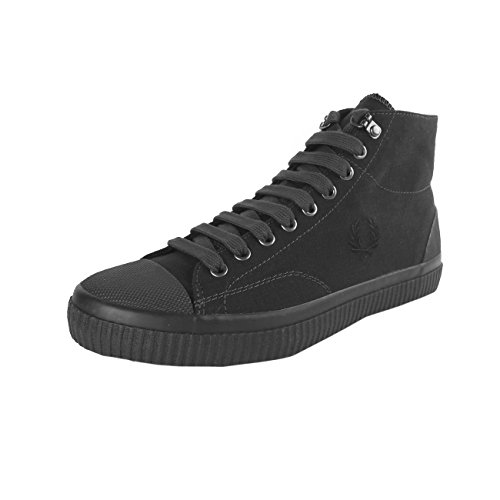 Fred Perry Hughes Mid Shower Resistant Canvas Black Black Gran Venta 3Dtx2Qf