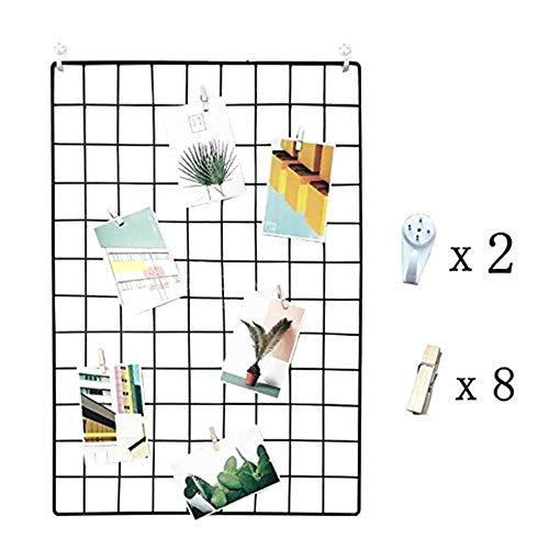 (DIY Eisen Gitter der Foto Wand Dekoration Plaid Foto an der Wand Hängen in der Familie, Küche, Büro und so weiter ( 65 * 45cm)Schwarz)