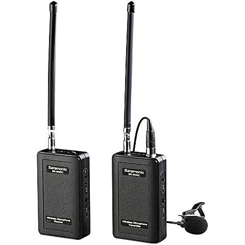 Saramonic SR-WM4C sistema inalámbrico de micrófono de solapa para Canon 6D 600D 5D2 5D3 Nikon D800 DSLR Sony DV Videocámaras DLR