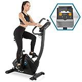Capital Sports Evo Track Cardiobike • Fitnessfahrrad mit Trainingscomputer • Heimtrainer • Bluetooth • 32 Stufen • App-Integration • 15 kg Schwungmasse • Tablet-Halterung • Pulssensor • schwarz