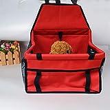 FELICIGG Haustier-Auto-Matten-Netz-hängende Tasche Breathable Wasserdichte Doppelschicht-Haustier-Auto-Taschen-Reise-Auto-Matte (Color : Red, Size : 40X30X25CM)