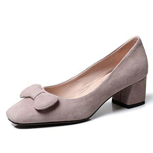 CBDGD Damenschuhe High Heel Pump Vier Jahreszeiten Arbeiten Schuhe süße Sandalen Damen High Heels Gericht Schuhe High Heels (Color : Gray, Size : 35 EU)