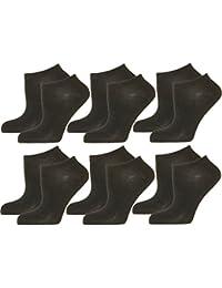 12 Paar Pandori® DAMEN HERREN Sneaker Socken in WEISS oder SCHWARZ. Füßlinge mit hohem BW Baumwolle Anteil Top Qualität Größen 35-38 39-42 43-46