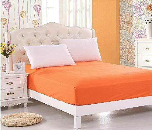 SUYUN Matratzenbezug für Allergiker, Milbenbezug - Matratzenschutz, atmungsaktiv,Matratzenbezug Orange 150 * 200cm Einzelbett