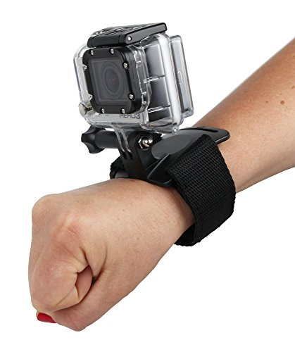 Sangle poignée / bracelet de fixation noir ajustable pour Excelvan TC-DV6, TC-Y8, TC-J6, TC-Q5, Q6 et Eyes GO - caméra embarquée - DURAGADGET