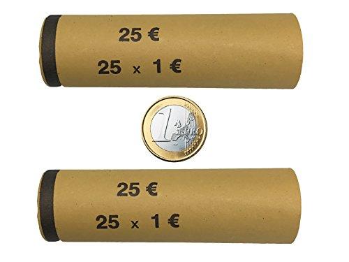 3708 MÜNZHÜLSEN - Münzrollenpapier vorgefertigt und gerollt für 1 Euro (128er Pack) A