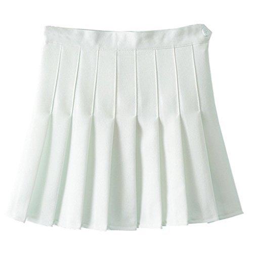 Nilover Damen Plissee Rock Weiß