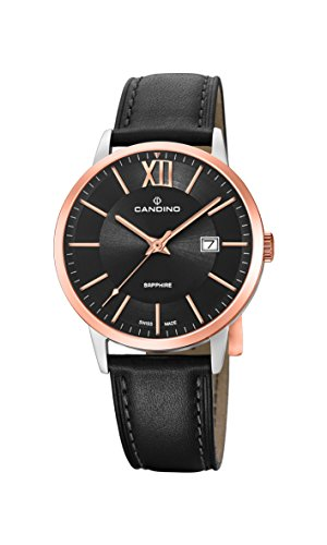 Candino Mens Analogue Classic Quartz Watch with Leather Strap C4620/1