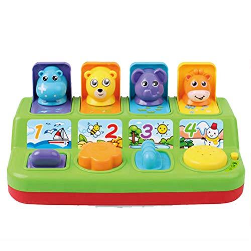 AimdonR Interaktive Pop-Up-Tiere Spielzeug mit Musik Licht Speicher Training Spielzeug Kleinkinder Baby Lernen Entwicklung Spielzeug Geschenk