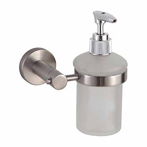 Zeitgenössische 304 Edelstahl gebürstet um die Basis der Badezimmer Beschleunigungskit für Seife, Toilettenpapier, Handtücher, Seife server (Server Stein)