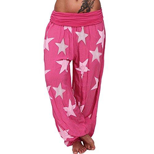 Goldatila Damen Sportswear Hose Casual Lose Star Printed Print Yoga Bloom Hose Hose Workout Gym Laufen Baumwolle Stretch Trainingsanzug Sporthose S-3XL -