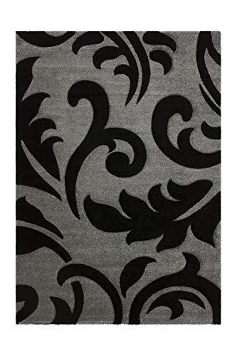 Lalee abgepasste Teppiche, 100% Polypropylen, Silber, 80 x 300 cm (Gold, Läufer Teppich)