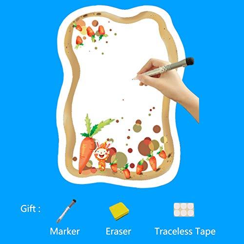 XM&ZF Magnetisches Kühlschrank Message Board,Memo-Boards Whiteboard Planer Mit Marker Radiergummi Aufzeichnen von Notizen Gemüse Design Für küche-C 25x35cm(10x14inch)