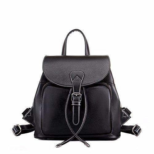 einfache leder rucksack rucksack reisen neue stimmen überein.,schwarz schwarz