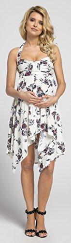 Happy Mama Damen Umstands Asymmetrisch Stillkleid Neckholder Kleid 656p - 5
