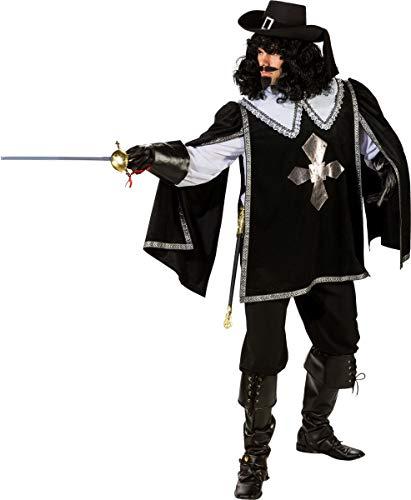 Orlob Fasching Kostüm Herren Musketier Umhang Unisize - ohne Kragen