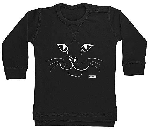 HARIZ Baby Pullover Katze Gesicht Süß Tiere Dschungel Plus Geschenkkarten Pinguin Schwarz 18-24 Monate (Katze Kostüm 18 Monat Alt)