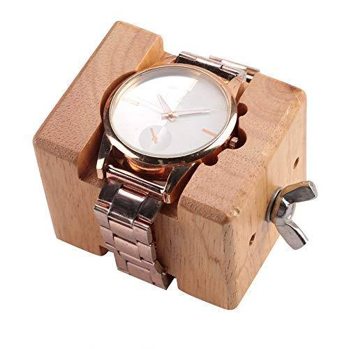 Uhrwerk Halter, Professionelle Holz Uhrengehäuse Halter Block Schraubstock Clamp Bewegung Reparatur Uhrmacher Werkzeug Entfernung (Holz-block-bild-halter)