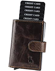 HIDE & SKIN 100% Genuine Leather RFID Blocking Men's and Women's Card Holder