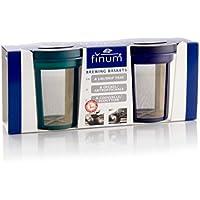 Finum Goldton 4210800 - Juego de filtros de acero inoxidable