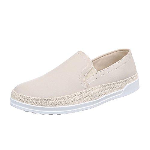 Beige Dintérieur Ital Donna design Pantofole q67wTg