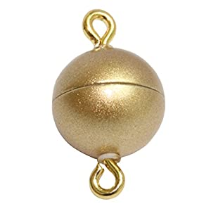 My Home Crystal – Magnetschließe für Schmuck mit zugstarkem Magneten und Öse zum öffnen in matt Gold