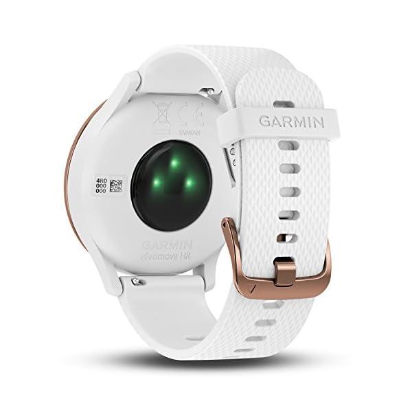 Garmin Vivomove HR Sport Rose Gold-White S/M Monitor Actividad, Adultos