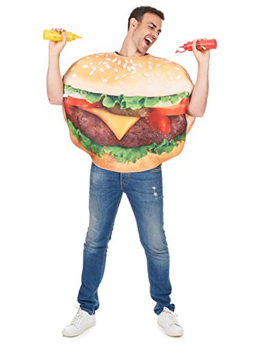 Käse Kostüm Für Erwachsenen - Generique - Burger Kostüm für Erwachsene Einheitsgröße