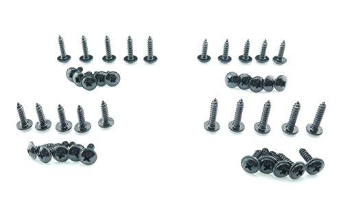 Tech-Parts-Koeln 40 Schrauben Verkleidung Set M4 M5 Roller Quad Motorrad Satz 4mm 5mm Kreuz schwarz