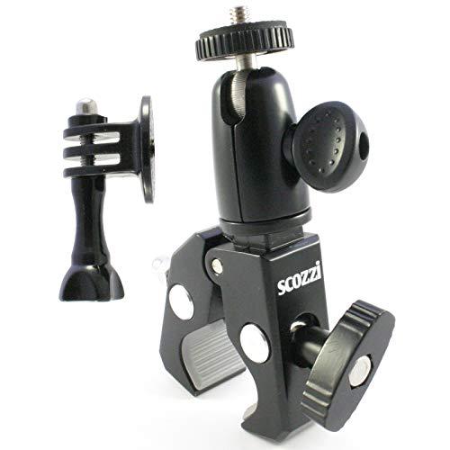 scozzi 360° universal Fahrrad Motorrad Kamerhalterung Action Cam Kamera Halterung Halter Quad ATV Jetski z.B. kompatibel mit GoPro, Rollei, Apeman, Akaso, Actman, Jeemak, Victure, Campark (CAM 1)