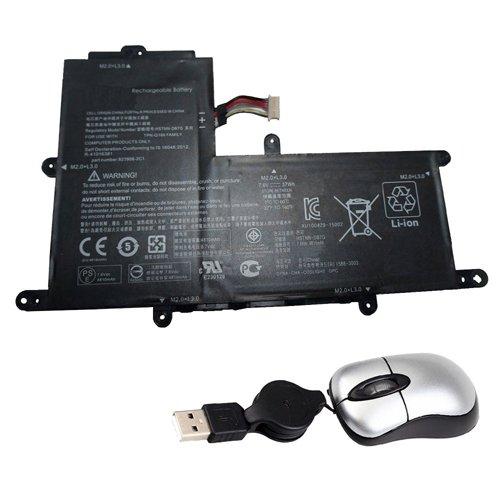 Amsahr PO02XL-05 - Batería de reemplazo para HP PO02XL, 824560-005, 823908-1C1, 11-R 11-R014WM Series (Incluye Mini ratón óptico) Color Gris