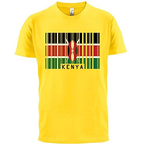 Kenya/Kenia Barcode Flagge - Herren T-Shirt - Gelb - M - Kenia Flagge T-shirt